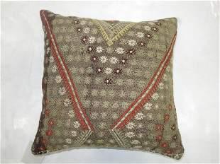 Gray Jajim Pillow