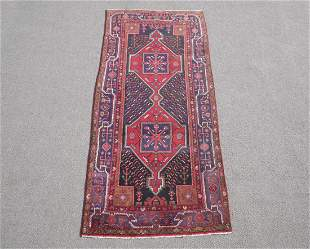 Outstanding Semi Antique Persian Kurdish 4.5x9.7