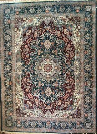 Vintage Persian Tabriz Hand Knotted Rug, Wool, 9 x 12',