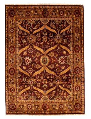 "Royal Mahal Burgundy Rug 8'0"" x 10'0"""