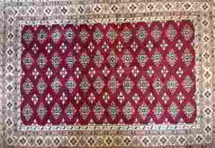Semi Antique Handmade Ardebil Oriental Rug, 4' x 6' ,