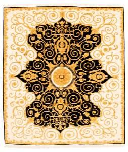 "Finest Agra Jaipur Black Rug 8'4"" x 9'5"""