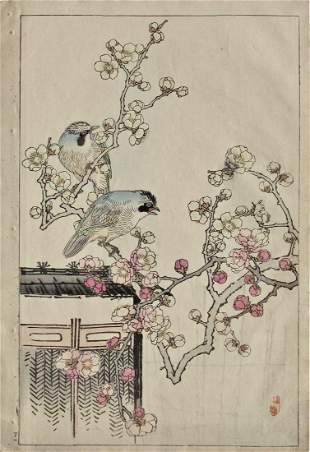 Bairei: Plum Blossoms and Jays