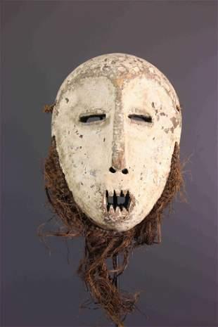 Lega Idumu wood mask - DRC Congo - African Art Tribal