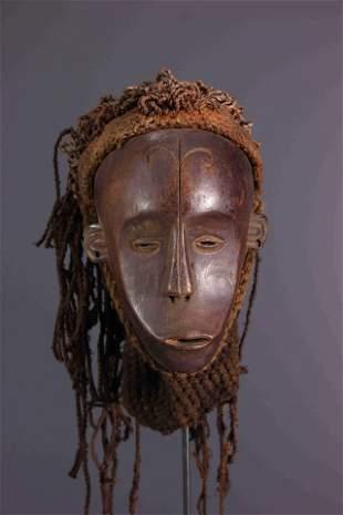 Chokwe Pwo wood mask - Angola - African Art Tribal Art