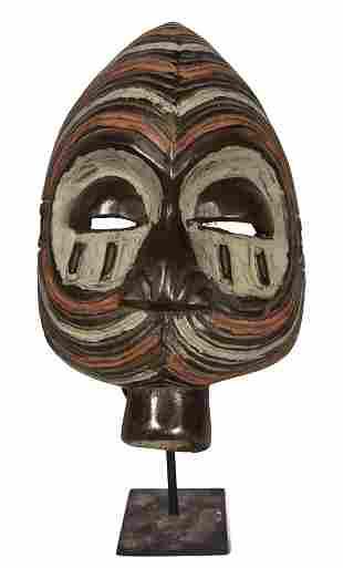 Mask – Wood – Mbole – DR Congo