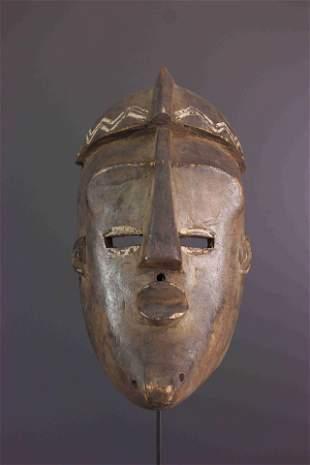 Lwalwa wood mask - DRC Congo - African Art Tribal Art