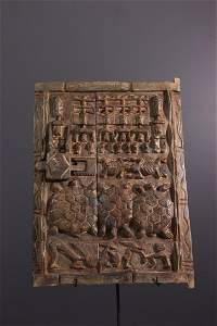 Dogon wood shutter door - Mali - African Art Tribal Art