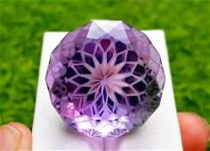 Amethyst, 61.85 Carats Natural Top Color Fancy Flower
