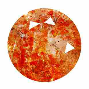 1.82 Ct Round cut 8 x 8 mm Ultra Rare Natural Red Dot