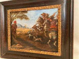 Antique oil painting 17th century on canvas Dutch