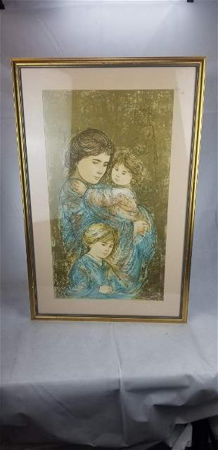 Artist Edna Hibel - signedl and numbered lithograph -