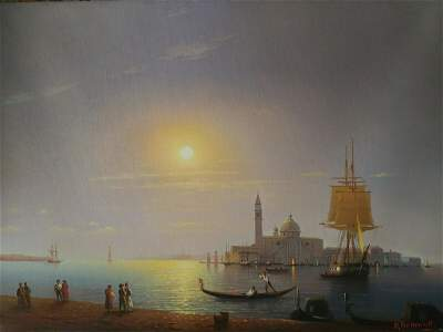 RUSSIAN SCHOOL OIL ON CANVAS PAINTING OF BLACK SEA