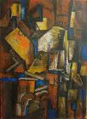 """Cubistic composition"" oil painting on canvas"