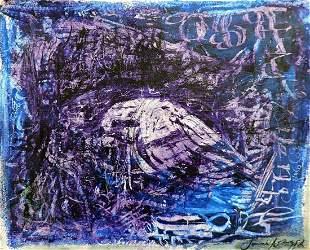 Jamil Naqsh - oil on paper