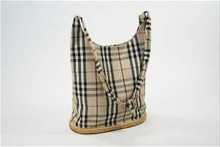 Burberry Plaid Beach Bag