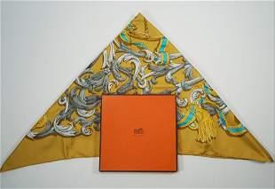 Hermes yellow scarf