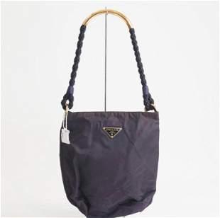 Prada Purple Nylon Shoulder Bag