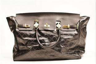 Versace leather kelly large handbag
