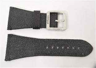 LOCMAN Genuine GALUCHAT-STINGRAY Leather Band BLACK*