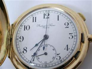 Antique 14k AUDEMARS FRERES GENEVE REPEATER Chronograph