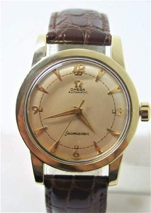 Vintage 14k Gold Cap OMEGA SEAMASTER Automatic Watch