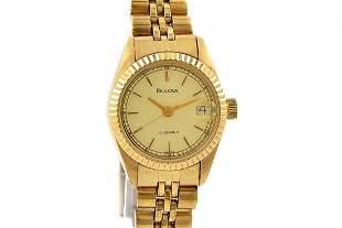 Vintage Bulova Classic Hand Wind Gold Plated Ladies