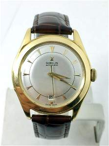 Vintage 18k GUBELIN Automatic Watch 1950s * EXLNT*