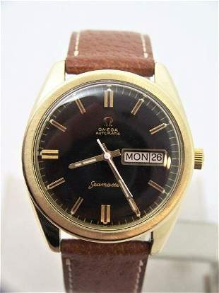 Vintage 14k Gold Cap OMEGA SEAMASTER Automatic DAY DATE