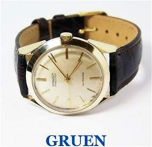 Vintage 14k GRUEN PRECISION 23J Mens Automatic Watch