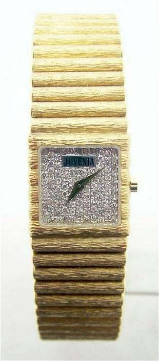 New 18k Gold JUVENIA Ladies watch with Diamond Dial