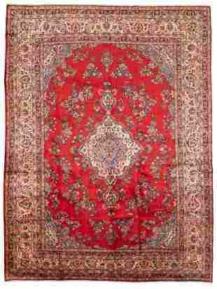 "Hand-knotted Hamadan Wool Rug 8'10"" x 11'11"""