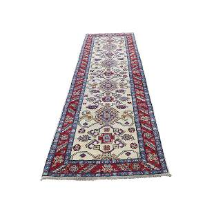 Pure Wool Hand-Knotted Special Kazak Runner Oriental