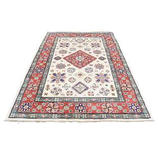 Ivory Special Kazak Pure Wool Hand-Knotted Tribal
