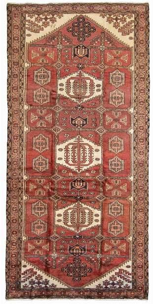 "Hand-knotted Hamadan Wool Rug 4'11"" x 10'5"""