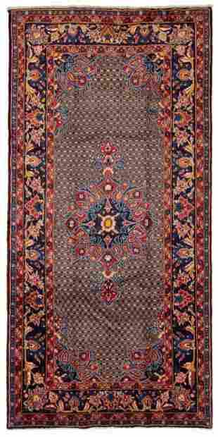 "Hand-knotted Hamadan Wool Rug 5'0"" x 10'2"""