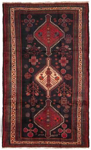 "Hand-knotted Varamin Wool Rug 5'6"" x 9'2"""