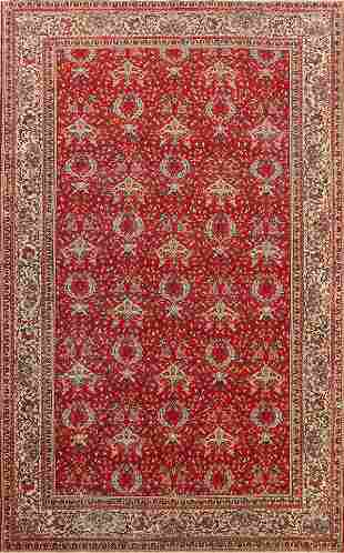 Antique Vegetable Dye Anatolian Turkish Area Rug 6x9