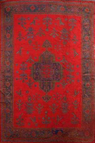 Antique Authentic Oushak Oriental Area Rug 11x15 Large