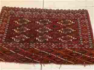 Fine Hand Knotted Turkman 4.2x3.5 ft