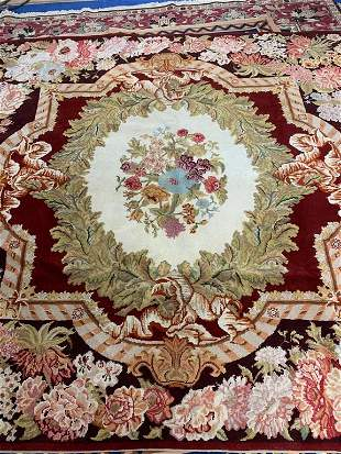 Hand Knotted Agra 7.8x8 ft