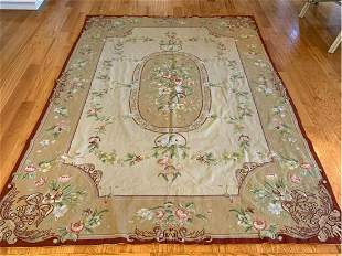 Hand Knotted Needlepoint 8.9x6 ft