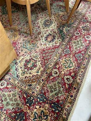 Semi Antique Hand Woven Persian Tabriz 12x8 ft