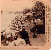 1899, FIGHTING FROM STONE WALL DEFENSES-PHILIPPINES