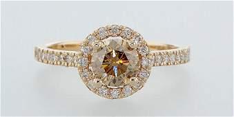 14 kt. Pink gold - Ring - 1.35 ct Diamond - Diamonds