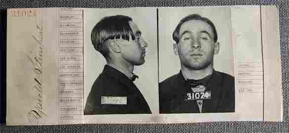 1910's Mugshots Modern Looing Man for Robbery & an Auto