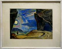 Oil painting Sea shore Deineka Alexander Alexandrovich