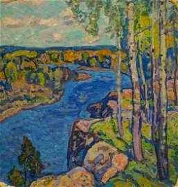 Oil painting Natural landscape Gaiduk Viktor