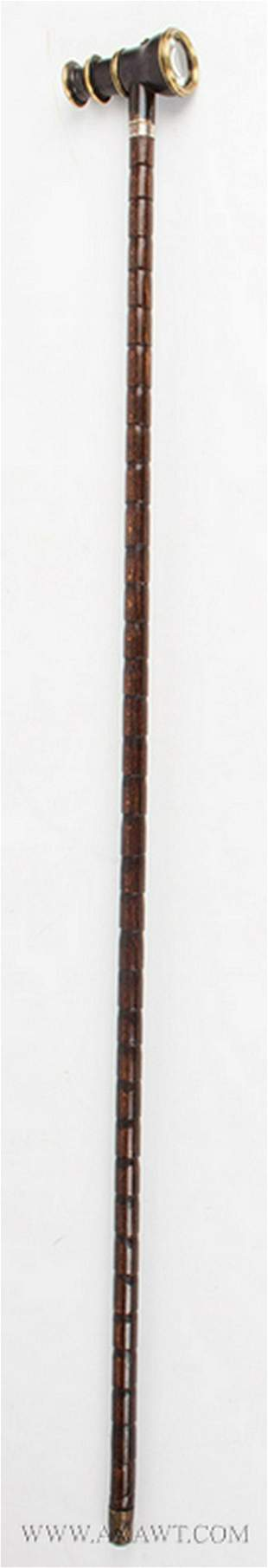 Walking Stick with Spyglass Handle