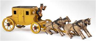 Stagecoach with Driver and 4 Horses